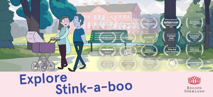 The picture shows a Stink-a-boo campaign illustration